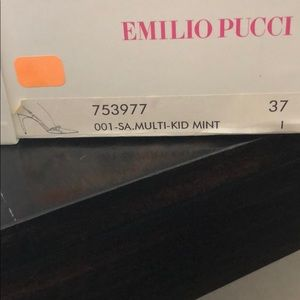 Emilio Pucci Shoes - Pucci Heels- 37